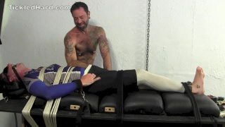 Franco ties down James with rope and tickles him