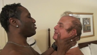 old man frederick makes love to a black stud