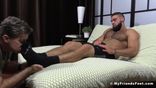 Ricky Larkin Shoots His Load during foot Worship