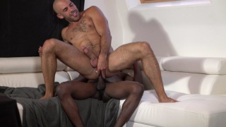 austin wilde rides big black bare cock