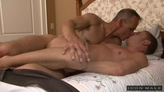 ian levine hops in a sexy daddy's bed