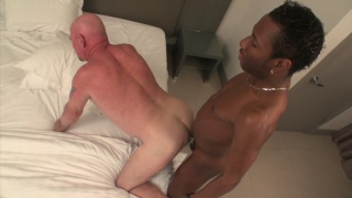 bald daddy gets fucked by hung black stud