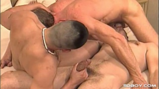 david calls 2 buddies over for threeway