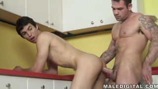 Twink takes repairman's big dick