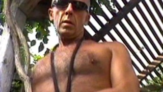Mature hippy gets his butt fucked