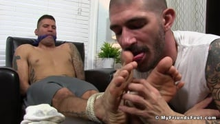 Johnny Hazzard Foot Fucks Caleb troy