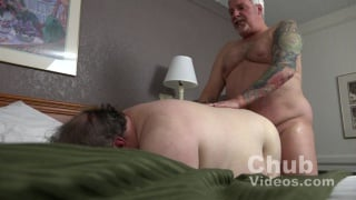 fat grey-haired daddy fucks chub bottom