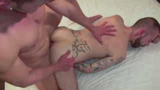 Diego spits on his cock and fucks Diego's tight ass