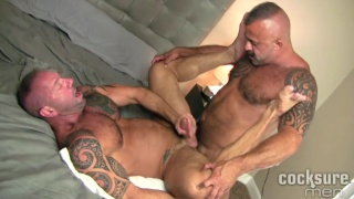 real-life lovers Vic Rocco and Jon Galt Bareback fuck raw