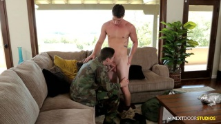 army stud home from serving his country
