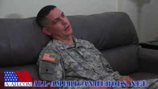 army sergeant jacks his dick