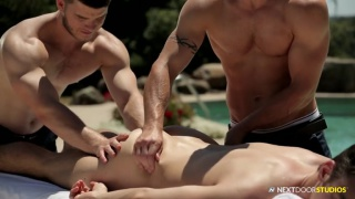 addison orders in a 4-handed massage