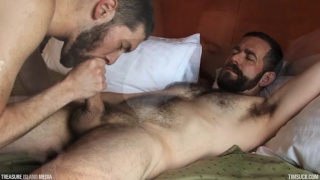 eric hassan feeds cocksucker his cum load