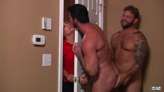 Billy's wife comes home while he's getting fuck