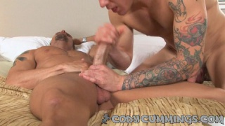 Cody Cummings plays with Parker