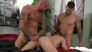 caleb troy's first threeway ever