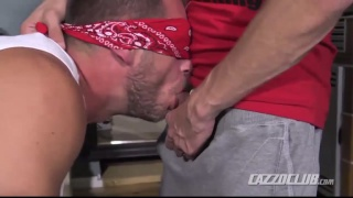 blindfolded hans berlin gets his ass fucked