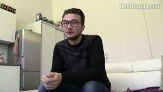 bespectacled ukranian guy does dirty things for money