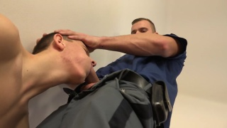 young lad gets roughed up and fucked by airport security
