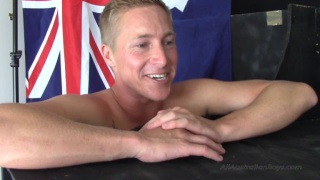 blond aussie getting sucked at glory hole