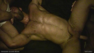 reckless load-swapping bareback scene from lawless london