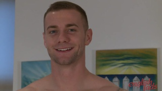 straight hunk thomas gets flirty with the camera