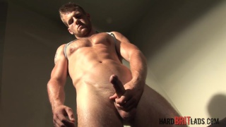 straight blond brit david jones masturbates