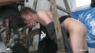 soldier films photographer sucking dick with his own camera