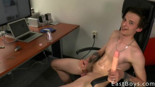 Ronald Bradley plays with dildo in his casting video
