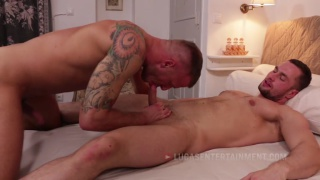 stas landon bangs logan rogue's ass