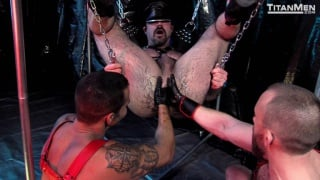 5 hairy men in rough sex session