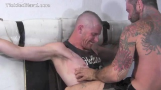 rough boy restrained and tickled