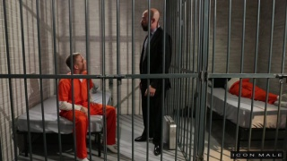prison guard Damon Andros fucks prisoner Brandon Wilde