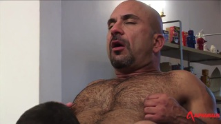 badl daddy gets his dick serviced by younger guy