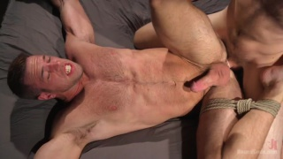Alex Mecum debuts in first bdsm scene on bound gods