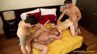 jimmy clay returns in a fourway fuck scene