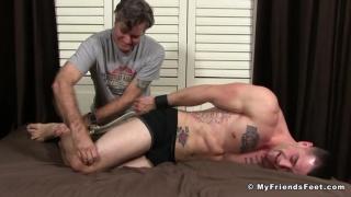 2 bondage foot tickling scenes