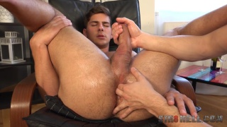 sexy Martin Gajda gets stroked and fingered