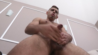 sexy latino stud fingers his hole while masturbating