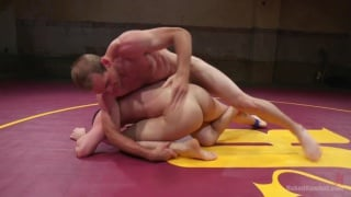 Tyler Rush fights ripped hunk Jonah Marx on the mats
