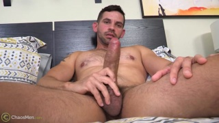 hot Latin dude with a big uncut cock