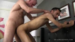 daddy fucks his skinny boy