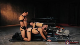 joey d, his two slaves and two fucking machines