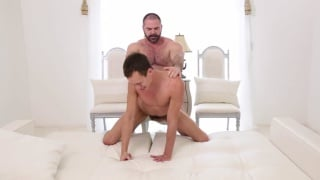 bearded mormon daddy fucks a hot lad's ass