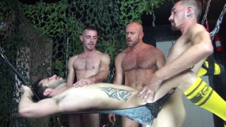 greedy dirty bottom gets gang fucked