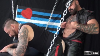 leather men Marc Angelo and Adam Knocksville fucking raw