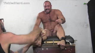burly stud is tickled tortured