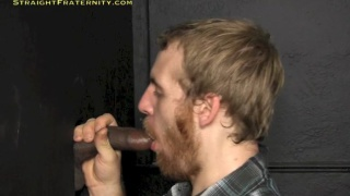 bearded cocksucker blows black guy at glory hole
