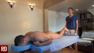 young masseur fucks his hunky client on the table