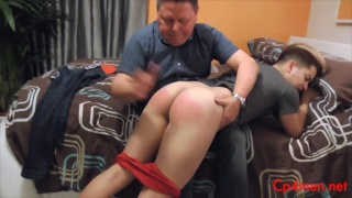 spanish student gets his ass spanked